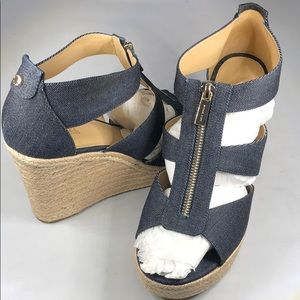 (p272) Michael Michael Kors Sandals Denim 10M